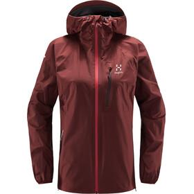 Haglöfs L.I.M Jacket Women maroon red